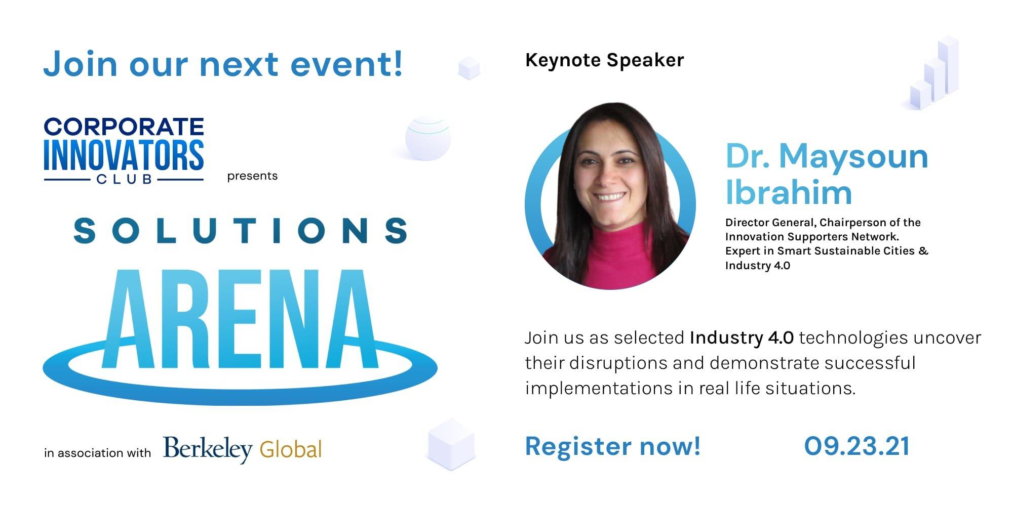 Solutions Arena event - Dr. Maysoun Ibrahim